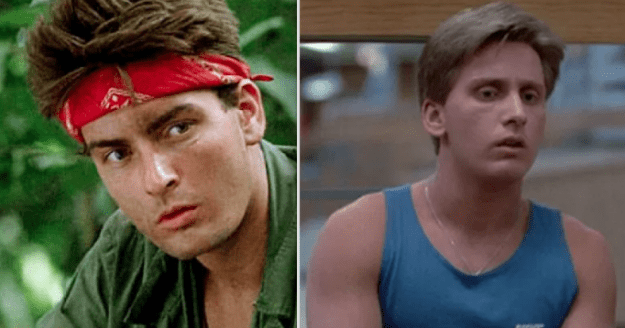 Charlie Sheen and Emilio Estevez are brothers: