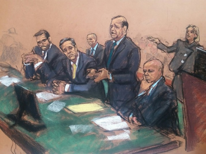Image result for PHOTOS OF SDNY PROSECUTORS COHEN IN COURT ON APRIL 16