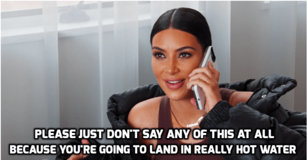 """However, when Caitlyn began to say that the public's response to the advert was """"a joke,"""" Kim urged her to simply not address the controversy at all."""