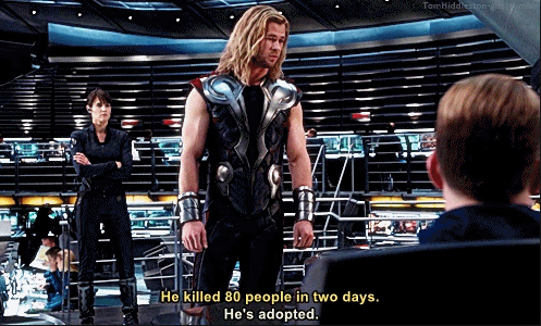 But this is Marvel, so Thor lightened the mood with some one-liners leading up to Loki's death. He managed to tell Thanos he