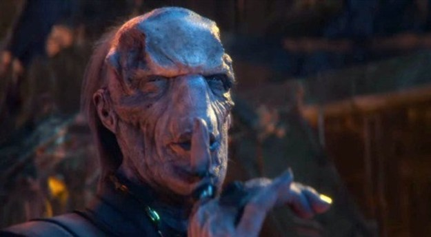However, then Ebony Maw threw a piece of metal against Thor's mouth to keep him from speaking again, and Thor had to silently, helplessly watch as Thanos stabbed his BFF Heimdall through the chest, then choked his brother to death.