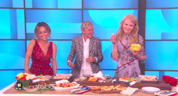 """When she told Giada De Laurentiis that her pizza was """"a little tough"""" on Ellen — after Giada had called her """"the woman who can't cook."""""""