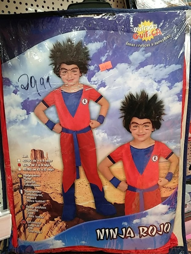 "This ""Red Ninja"" costume looks suspiciously like Goku..."