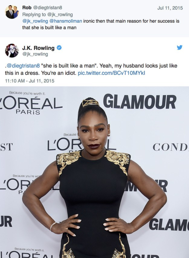When she roasted this Twitter troll when they came after Serena Williams: