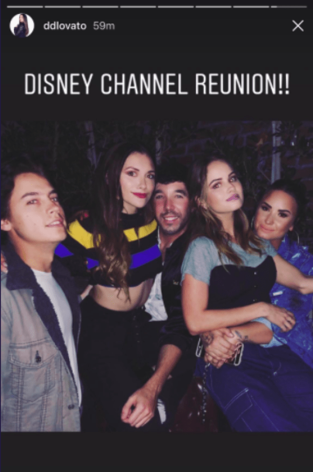 Well, wait until you feast your eyes on this pic from Demi Lovato's Instagram story — also known as the '00s Disney Channel reunion of my dreams.