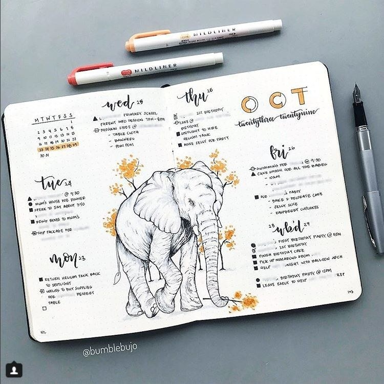 As I read the post, however, I realised something. I'm pretty sure I'm already in a cult and that cult is called bullet journalling. And if you're here . . . well, it might already be too late for you. Here's what I got.