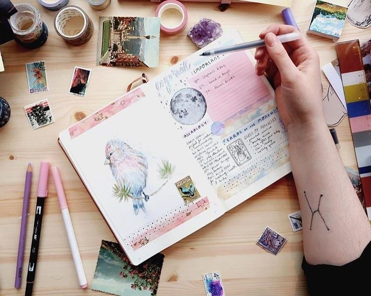 """Don't even lie to me - don't lie to yourself. The only way we're going to get through this is if we're raw, gritty and honest with each other.How much do you spend on washi tape, fancy calligraphy pens, rainbow fineliners, """"compensating-for-not-being-able-to-draw"""" stickers and high quality notebooks? (No, seriously though, it's worth the extra for quality paper or your ink bleeds and- oh dear God, they got to me. Abort mission, I have been compromised.)"""
