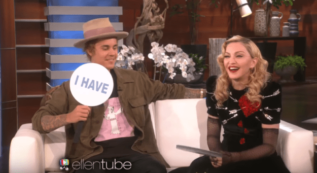 Justin Bieber and Madonna have both forgotten the name of the person they were fooling around with: