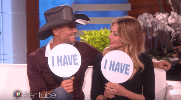 Tim McGraw and Faith Hill have used each other's toothbrushes without telling the other: