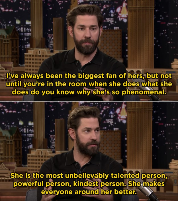 When he talked about how amazing it was to watch Emily work while filming A Quiet Place: