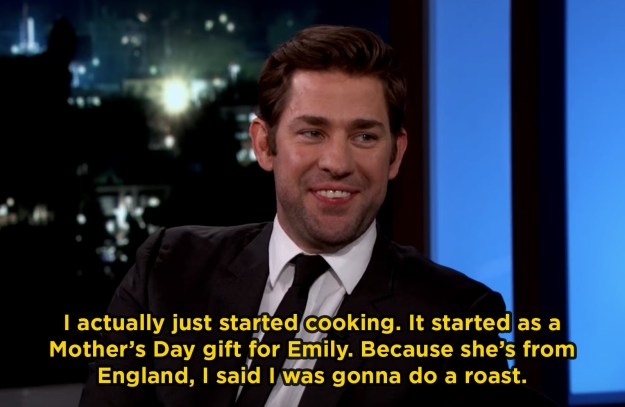 When John started cooking for Emily and it was just the sweetest: