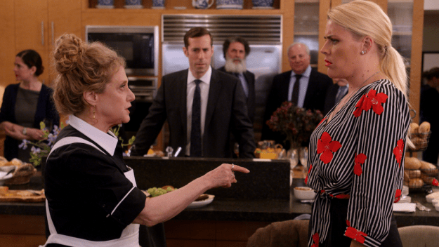 Busy Philipps is in Episode 6, playing the role of Sheba Goodman, who's a fun-loving heiress trying to convince her family that she's turned over a new leaf in order to receive her inheritance.