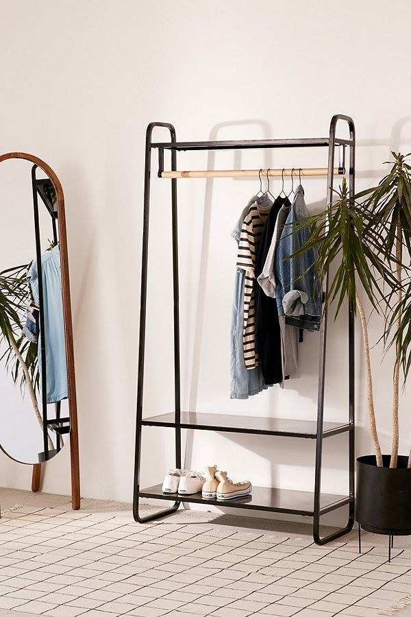 And use the shelving on the top and bottom to store shoes, containers, and other things that don't have a home.Get it from Urban Outfitters for $149 (available in two colors).