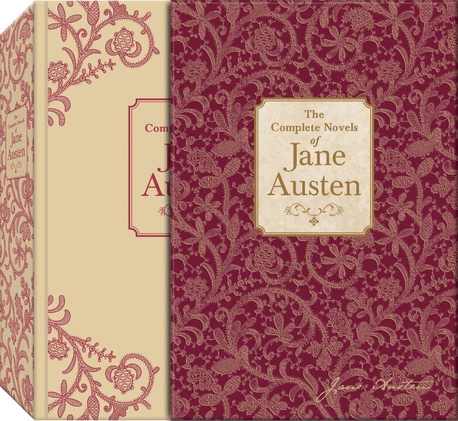 """DON'T @ ME IN THE COMMENTS. The novels included in the collection: Sense and Sensibility, Pride and Prejudice, Mansfield Park, Emma, Northanger Abbey, Persuasion, and Lady Susan.Promising review: """"This is one of those books one reads over and over for pleasure. It is a perfect picture of life in England two centuries ago. Austen is a shrewd observer of human nature and is skilled in extracting humor from their foibles. It is the best sort of escape to dwell in her world, if only for the length of a good read."""" —M. SnowdenGet it from Amazon for $25.78 or a similar style from Walmart for $50.99."""