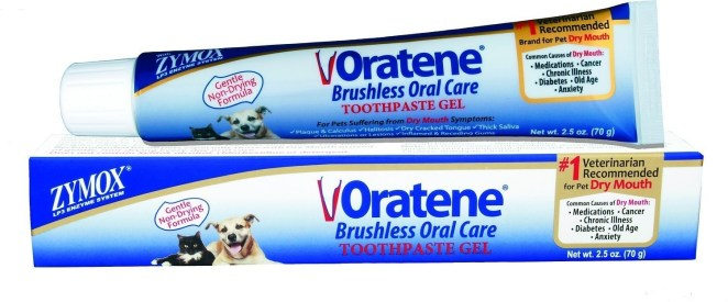 "The toothpaste is safe for dogs and cats.Promising review: ""This stuff is a miracle. One of our two dogs has especially bad halitosis. We paid over $200 getting his teeth cleaned about two months ago and was stinky again. I resorted to brushing and got nowhere but wrestling a 9 lb. dog. This is a brushless toothpaste as advertised. When it arrived the other day, used it on both dogs. Honest to god, both dogs have fresh, puppy breath and tolerate it wonderfully. Apparently dogs get very dry mouths and this eliminates that AND the bad breath."" —PetuniaGet it from Amazon or Chewy for $13.05."