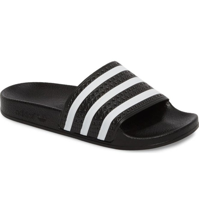 """Promising review: """"These slides are so comfy and love that they go with just about everything!"""" —Kt1212Get them from Nordstrom for $29.95+ (available in sizes 3M-5M and in black and pink)."""