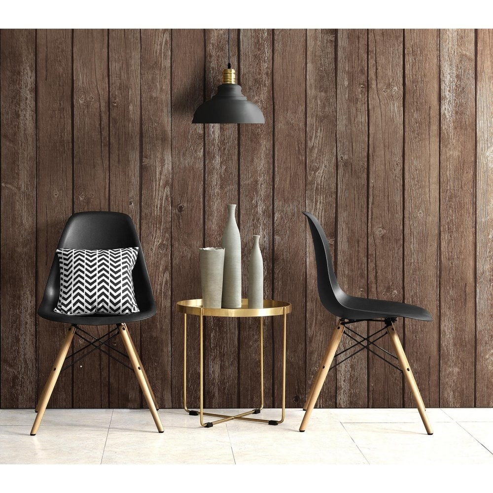 "Promising review: ""Love these mid-century modern chairs! Easy to put together and perfect with an accent pillow (also a Walmart find). These will not disappoint anyone wanting to achieve this look and add style to their home! —MamaburgPrice: .23+ (for a set of two; available in four colors)"