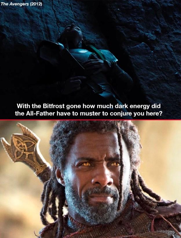 Before sending Hulk back to Earth in Avengers: Infinity War, Heimdall says,