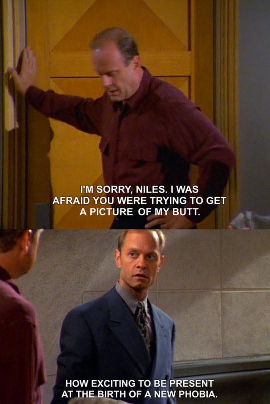 When Frasier had an irrational fear.