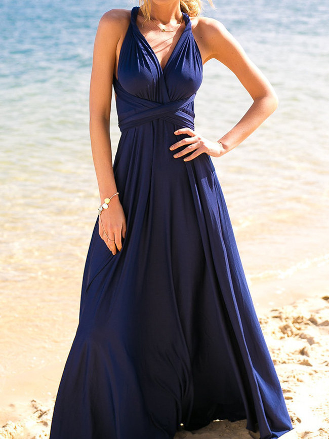 """Promising review: """"I bought this for my sisters as a bridesmaid dresses. I am so impressed with the quality. The fabric is soft and comfortable. We immediately tried out different ways to wear it. I loved that is was flowy. It's also so versatile that it worked for both sisters despite having different body types. We were able to make it flattering for both of them. And the best part, besides it looking great and being comfortable, is the price is unbeatable."""" —Taylor Price: $18.79 (available in sizes S-XL and 20 colors)"""