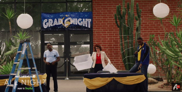 Hulu's new original series about a group of high schoolers at a lock-in on their graduation night, All Night, will premiere on the streaming service May 11.