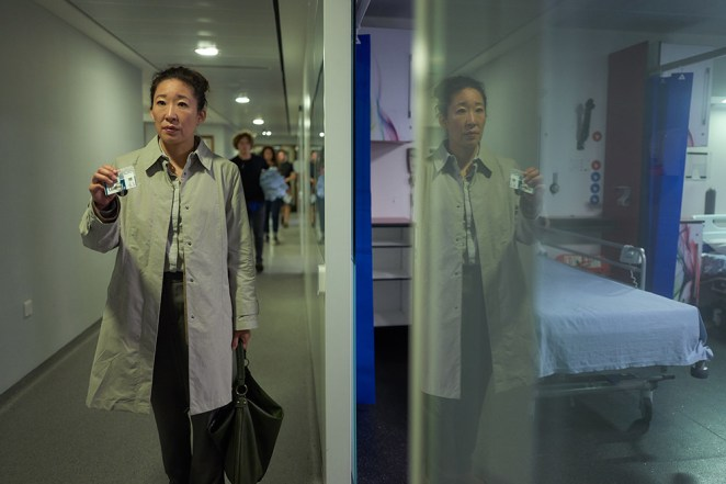 Oh in her new role as MI5 officer Eve Polastri in Killing Eve.