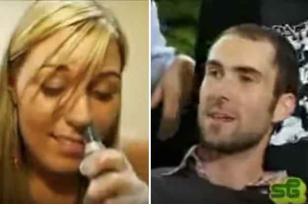 When Adam Levine was on Room Raiders and the girl tried out his nose trimmer: