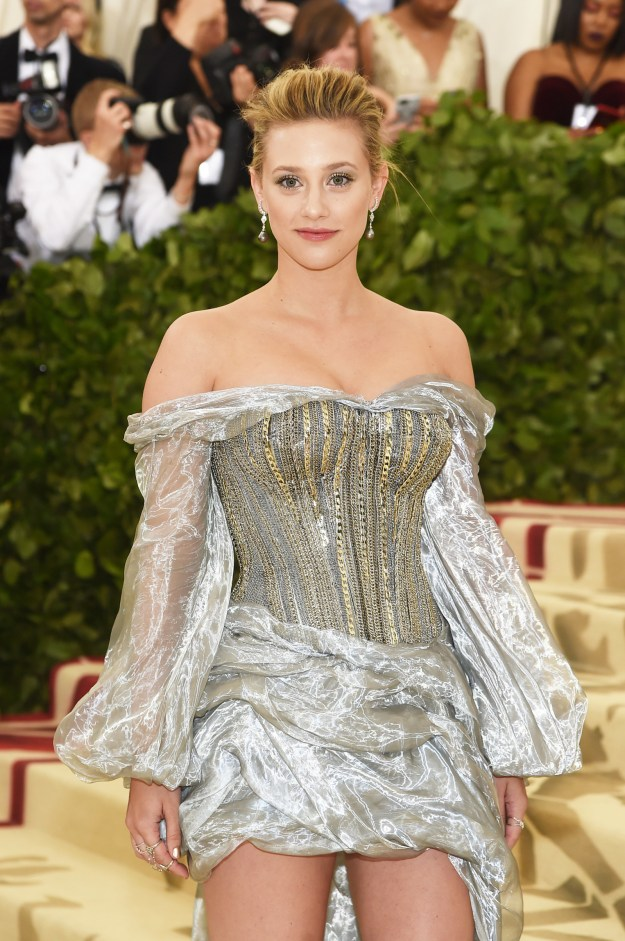 ...And here we are, one year later, where Lili Reinhart arrived at the Met Gala serving Betty Cooptholicism realness.