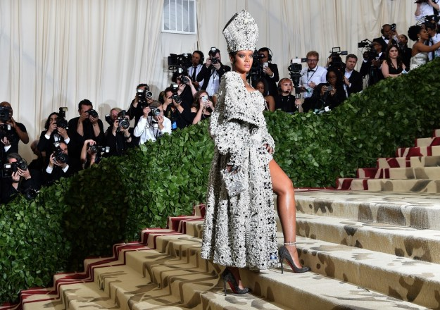 """The night – hosted by Rihanna, Amal Clooney, and Donatella Versace – saw a ton of big names walking the stairs of the Metropolitan Museum, with most adhering to the """"Heavenly Bodies: Fashion and the Catholic Imagination"""" dress code."""