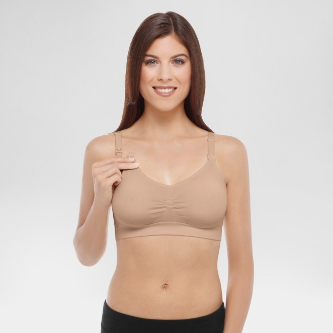 Medela nursing bras from Target!! Soft enough to sleep in and sturdy enough to wear during the day at home. My daughter is 5 months old and I still wear mine to bed and while hanging out at home.—rebeccas43Get it from Target for $23.99 (sizes S-XL, three colors).