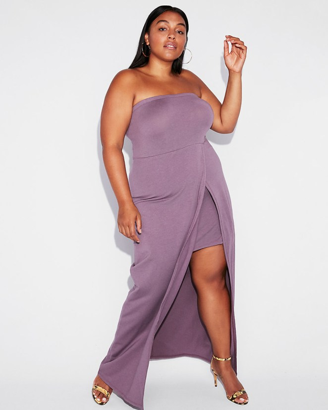 "Promising review: ""This is in such a rich and 'now in' color. It's great for summer. It's a really nice elegant yet simple dress."" —SharzephGet it from Express for $35.94 (originally $59.90; available in XXS-XL and in two colors)."