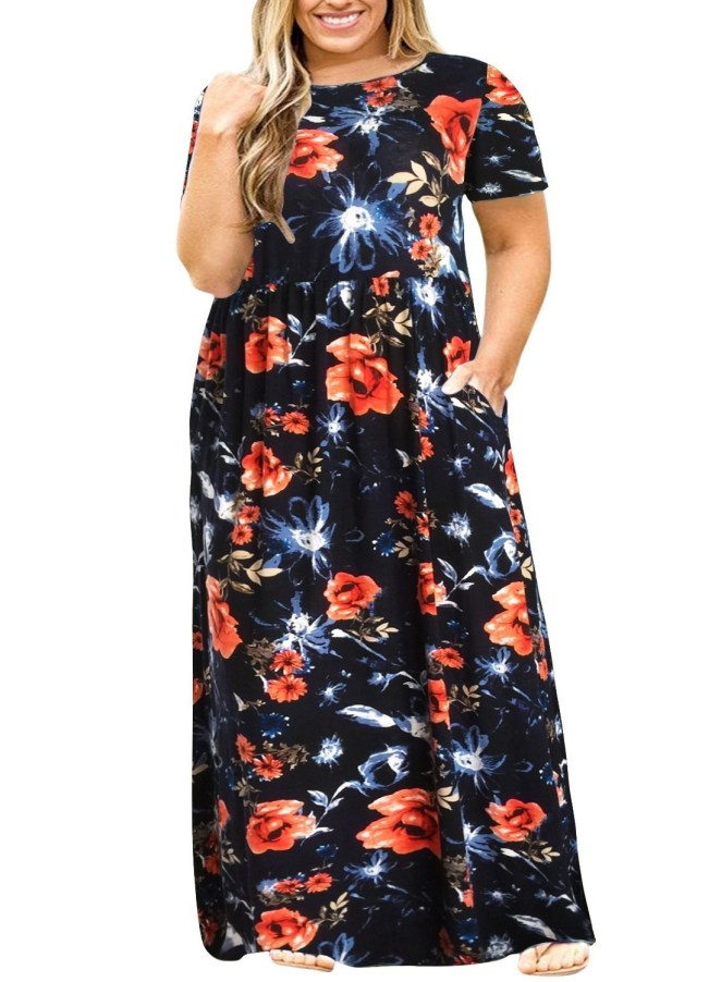 """Promising review: """"I LOVE THIS DRESS! I have ordered all of the prints and the black one (eight total so far). I constantly get complimented on these dresses, even from total strangers. It's nice to finally find a dress that is comfortable and looks cute. I will keep checking back for new prints!"""" —Dina GrubbsGet it from Amazon for $25.99+ (available in sizes 14-26 and in 15 colors)."""