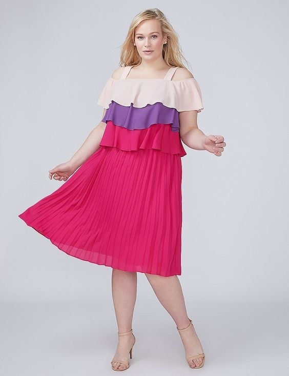 "Promising review: ""I absolutely love my new dress! The colors are beautiful."" —linda212Get it from Lane Bryant for $41.29 (originally $58.99; available in sizes 14-28)."