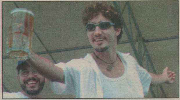 A photo of Justin Trudeau in the Creston Valley Advance from August 2000.