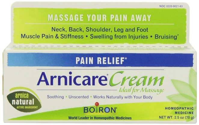 """Arnica montana, a mountain flower that is the active ingredient in the cream, is a homeopathic remedy people use to relieve sore muscles, swelling, and bruising. It seems to have anti-inflammatory properties, so presumably Tom Brady and Gisele really like it (nb: entirely unconfirmed). (This New York Times article also notes that while there's a minor risk of skin allergies with arnica montana (as with any skin cream), it is """"generally safe when used topically"""".)"""