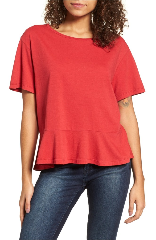"Promising review: ""This is a very cute tee! It's comfy and slightly loose-fitting. Plus, the fabric is soft and the color is just as pictured."" —JMoen Price: $9.90 (originally $22, available in sizes XXS-XXL and in six colors)"