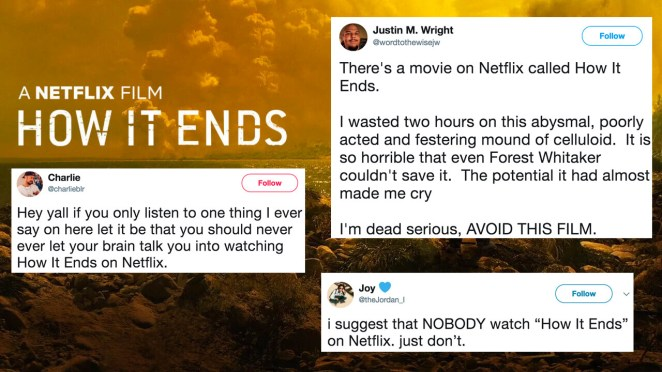 In recent weeks I've seen folks aggressively warning others to steer clear of How It Ends, which basically left me with no choice but to watch it!