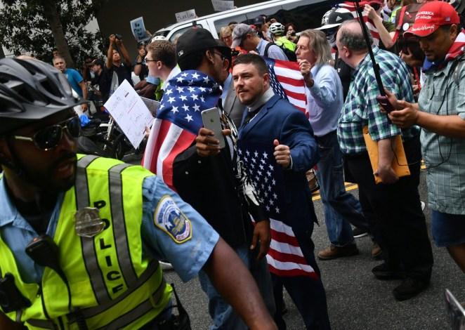 Unite The Right organizer Jason Kessler in DC on Sunday,