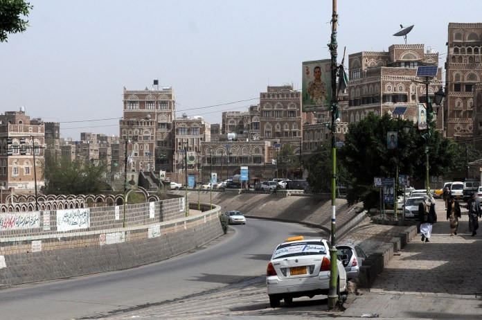 Daily life continues in Sanaa, where the al-Asaadis live, earlier this year.