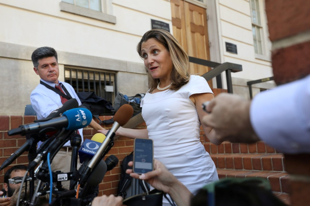 Candian Foreign Minister Chrystia Freeland