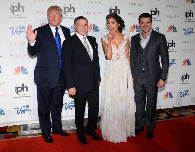 From left: Donald Trump, Aras Agalarov, Miss Universe 2012 Olivia Culpo, and Emin Agalarov