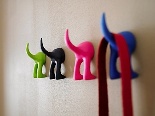 Get a set of six rubber hooks from Amazon for $24.93 (assorted colors).