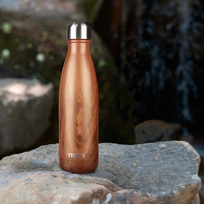 """Get it from Amazon for $12.50+ (available in two sizes and 22 patterns).Promising review: """"I have to say this is the best water bottle I have ever had. It is not only beautiful but like having a perfect functioning thermos. This bottle does exactly what is says and that is keep water cold for 24 hrs and 12 hrs for your hot. I use it mainly for my water...and really and truly even if I leave my water in the car in this hot humid weather in Florida it WILL BE COLD when I open the bottle!!! I also got many compliments on this bottle's design."""" —Alison M. Canizares"""