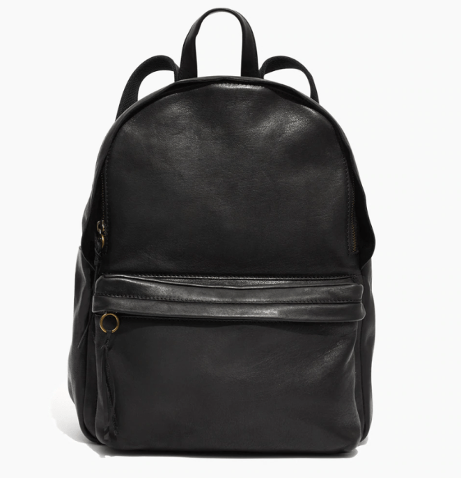 "Promising review: ""I love this backpack! It's the perfect size to carry my school notes, iPad, water bottle, planner, and more. It is beautifully made with good stitching and zippers, and the leather smells like heaven. I hope that this backpack lasts me forever."" —lkh18Get it from Madewell for $198 (available in 3 colors)."