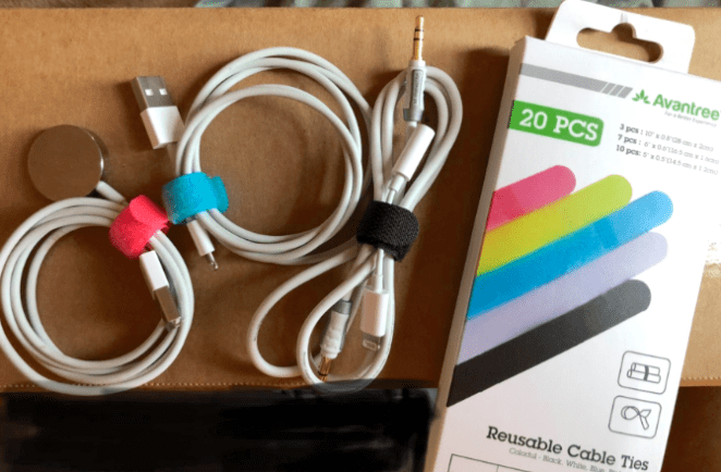 """Promising reviews: """"I love that you can attach the tie to the cord, which makes rolling up and re-fasten cords quick and easy. Already I have used them on home appliances, electronics, and hair tools (straightener, blow dryer). These cable ties help a lot with managing all types of cords, and my next project will be tackling the cords for our entertainment center. This particular package comes with just the right amount of ties for each size, and I know I'll have enough to last quite a while. Very happy!"""" —Monica""""Love these things. No seriously, they have so many uses that I honestly didn't even think about when I initially ordered them. I bought them to use as cable ties for my desk, which they work perfectly for, but I've also since used them to wrap cords for stored appliances, wrap my headphones in my purse to keep them from getting tangled, I even use them to wrap the handles of my canvas grocery bags together to keep stuff from falling out and to attach things to my purse straps."""" —Nicole N. Get them on Amazon for $6.99."""