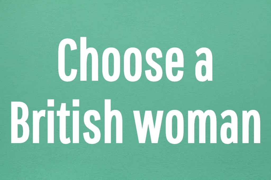 Choose a British woman