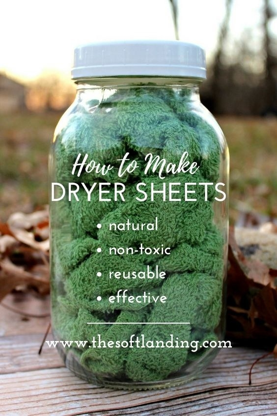 You can also use upcycled t-shirts.DIY Dryer Sheets Instructions
