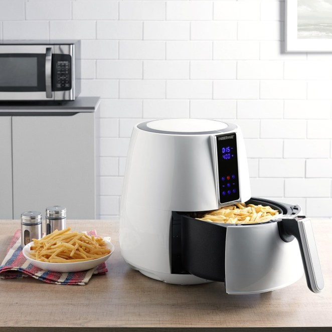 This air fryer has eight preprogrammed options to make cooking a breeze. The 3.2-quart basket fits up to two pounds of food — and it's dishwasher-safe!Price: $49.99 (originally $69.99)