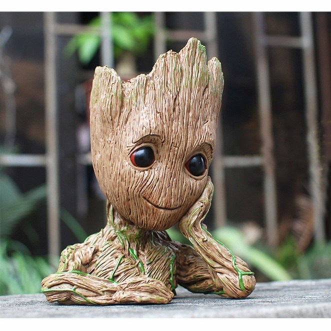 """He even has a little hole on the bottom for drainage!Promising review: """"I adore Groot dearly and when I saw this, I didn't hesitate to order. I planted a succulent and it looks absolutely perfect! Every time I look at this little guy, I can't help but smile! Excellent detail and quality! So glad I bought him!!"""" —AprilGet it from Amazon for $6.88."""