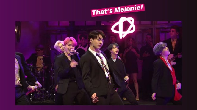 """Besides saying gems like, """"If the Queen knighted me, it would be less of an honor than being onstage with BTS"""" (wow, MOOD...if I had her songwriting skills), she also offered her two cents on what makes a song distinctly BTS: """"I feel like it's the really beautiful mixture of masculinity and femininity that they're so unabashedly known for. They're not afraid to use what some people would call more feminine-sounding melodies because they make it their own. I think that that's what's so sexy about them. They go for almost ethereal melodies that you wouldn't necessarily write for a male boy band.""""BTW, Melanie also cowrote """"Mikrokosmos"""" off of their latest album, Map of the Soul: Persona (which is my favorite, and no wonder why!!!), Jungkook's solo track """"Euphoria"""" off of their Love Yourself: Answer album, ***and*** she's written for Britney Spears, Justin Bieber, Girls' Generation, and more. THE GIRL'S GOT TALENT."""